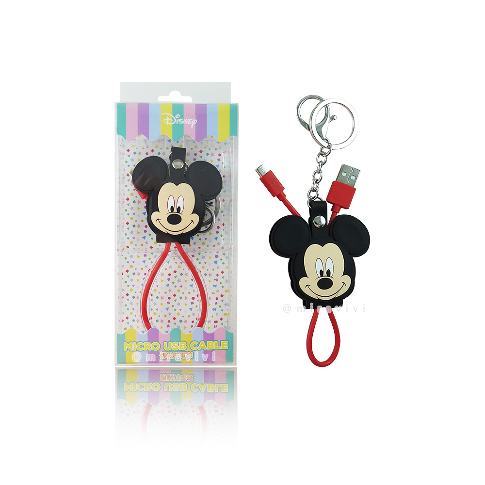 Disney迪士尼 米奇 Micro USB 立體傳輸線/充電線