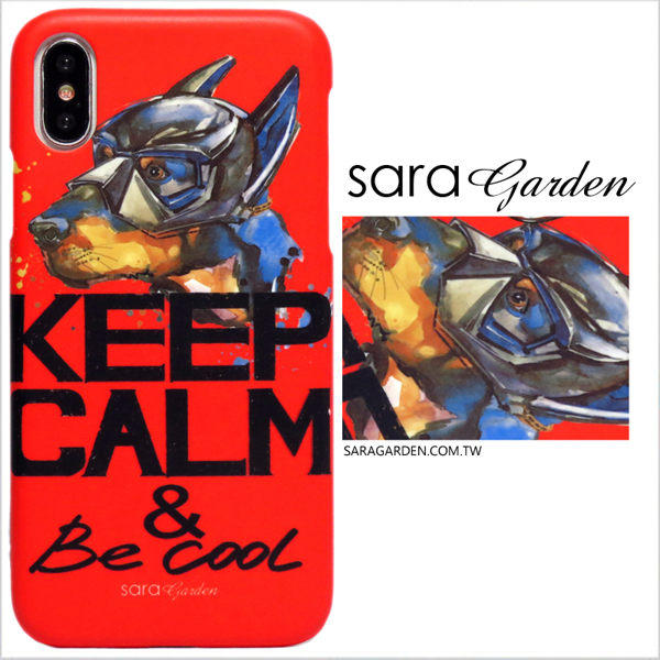 【Sara Garden】客製化 手機殼 蘋果 iphone7plus iphone8plus i7+ i8+ 手繪蝙蝠俠狗狗 手工 保護殼 硬殼