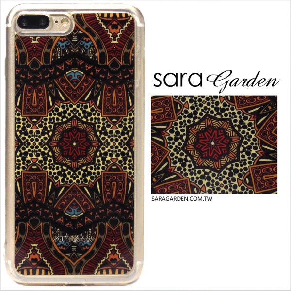 【Sara Garden】客製化 軟殼 蘋果 iPhone7 iphone8 i7 i8 4.7吋 手機殼 保護套 全包邊 掛繩孔 民族風圖騰