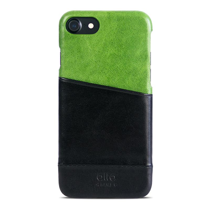 Alto iPhone 7/8 真皮手機殼背蓋,Metro(萊姆綠/黑色)