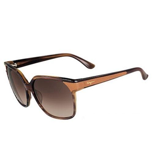 Ferragamo 木紋框太陽眼鏡 咖啡棕 622SL 261