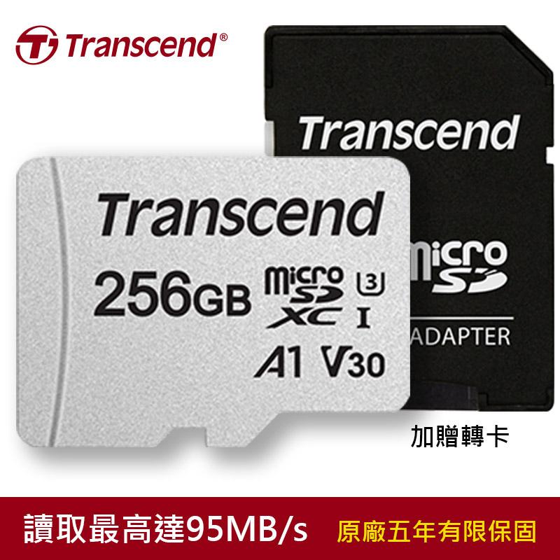 Transcend 創見256GB USD300S microSDXC UHS-I U3(V30/A1)記憶卡(贈轉卡)