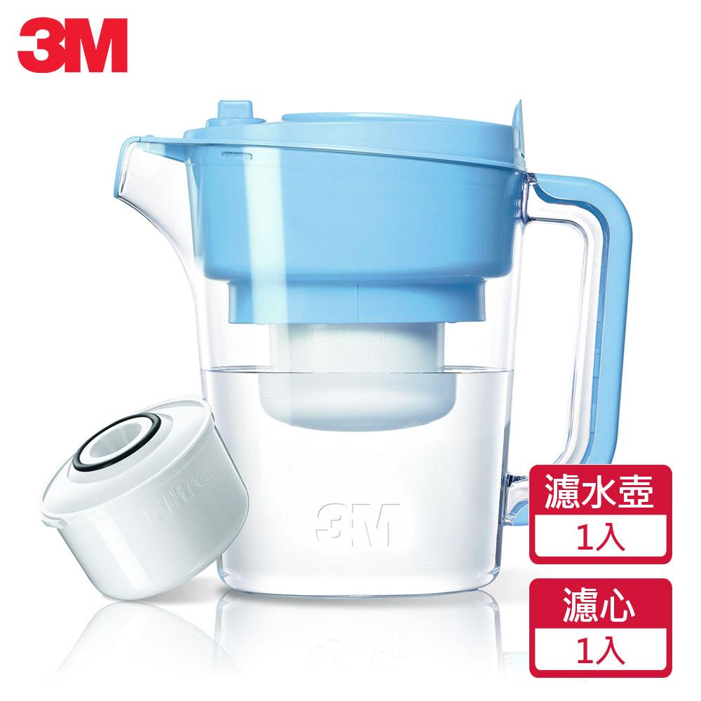 【3M】即淨長效濾水壺(1壺+1濾心)(晴空藍)WP3000-BL