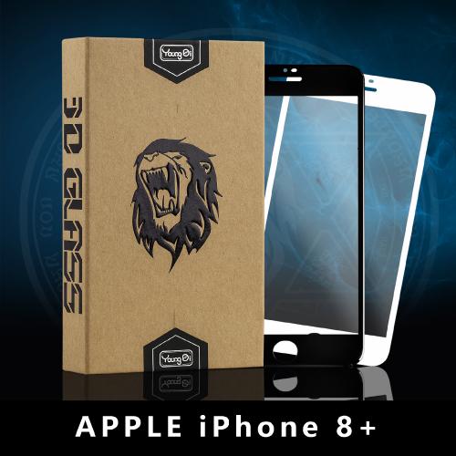 【YoungDi永廸】3D曲面鋼化玻璃保護貼(魔法版)-iPhone 8 PLUS-白色