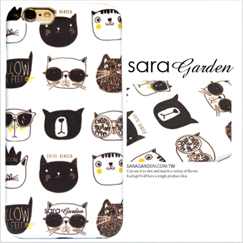 【Sara Garden】客製化 手機殼 HTC M9 手繪 大頭 可愛 貓咪 保護殼 硬殼 限定