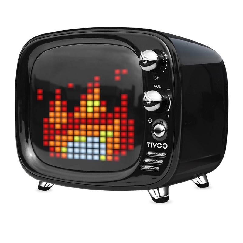 Divoom Tivoo 智慧復古電視藍牙喇叭-黑色