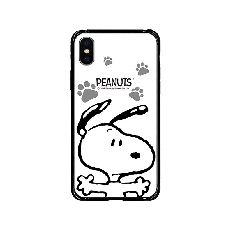 【正版授權】SNOOPY iPhone X/Xs 5.8吋 全包邊鋼化玻璃保護殼_大擁抱