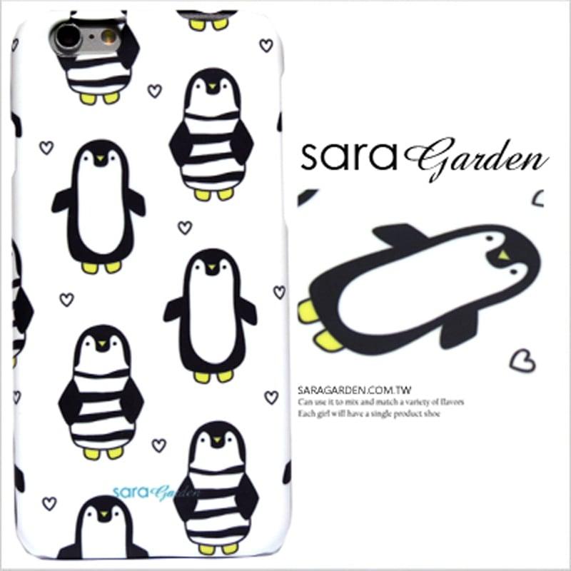 【Sara Garden】客製化 手機殼 SONY Z5P Z5 Premium 手繪 插畫 愛心 企鵝 保護殼 硬殼