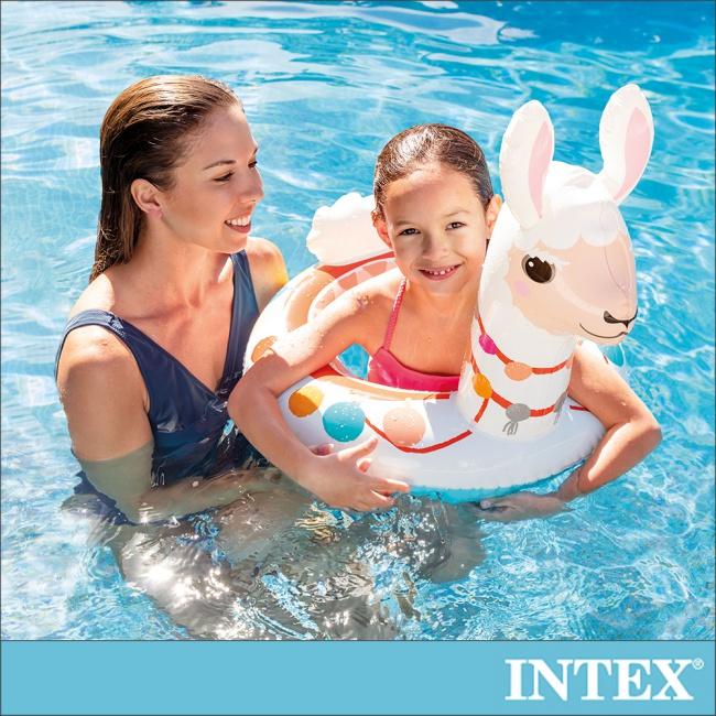 【INTEX】造型游泳圈-羊駝_適用3-6歲(58221)