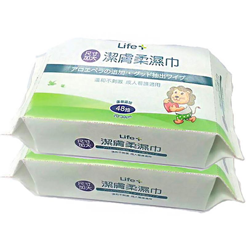 Life加大潔膚柔濕巾48抽x2包