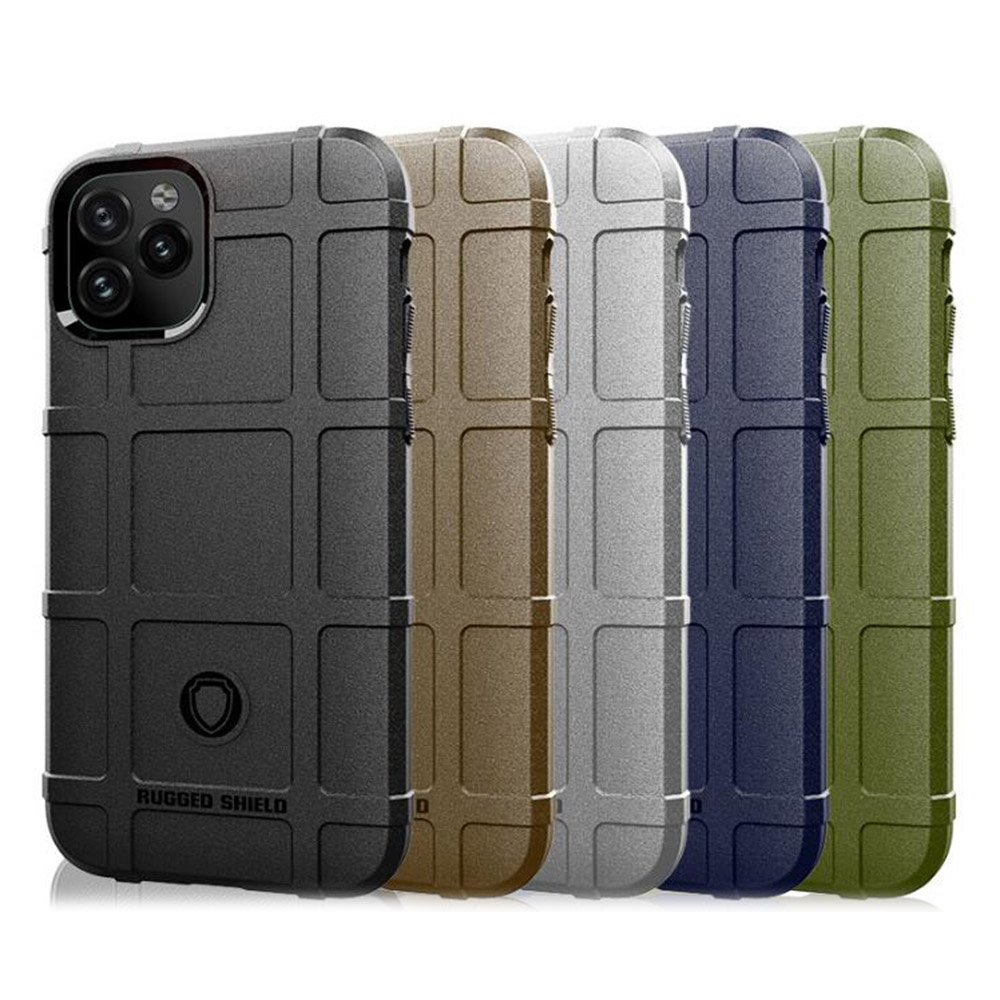 QinD Apple iPhone 11 Pro Max 戰術護盾保護套(棕色)