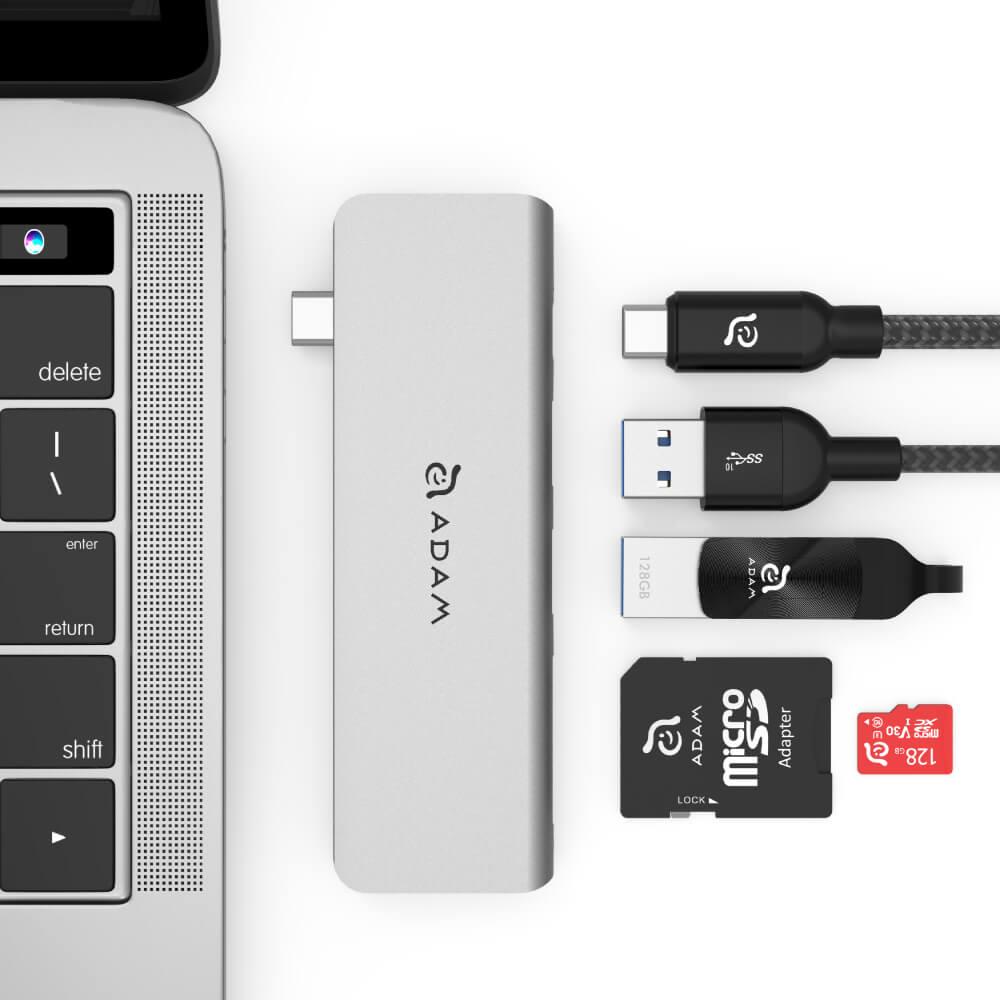ADAM Hub 5E USB 3.1 USB-C 5 port 多功能轉接器