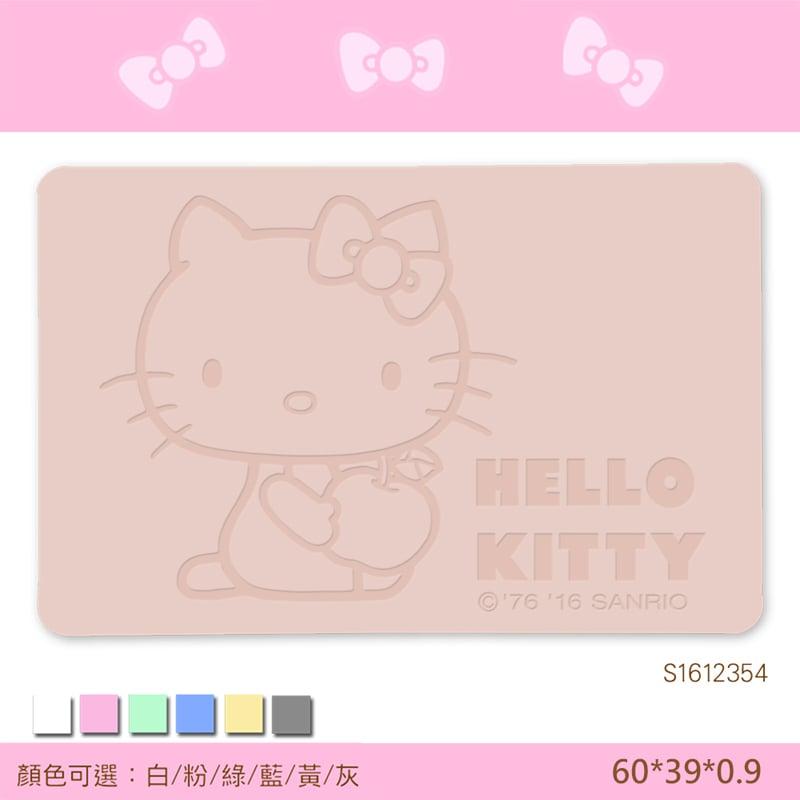 【三麗鷗獨家授權】Hello Kitty珪藻土吸水地墊//蘋果抱抱-粉
