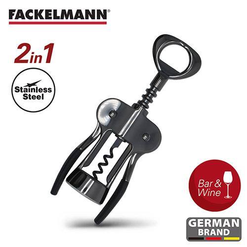 【德國Fackelmann】黑金系列鋅合金紅酒開瓶器