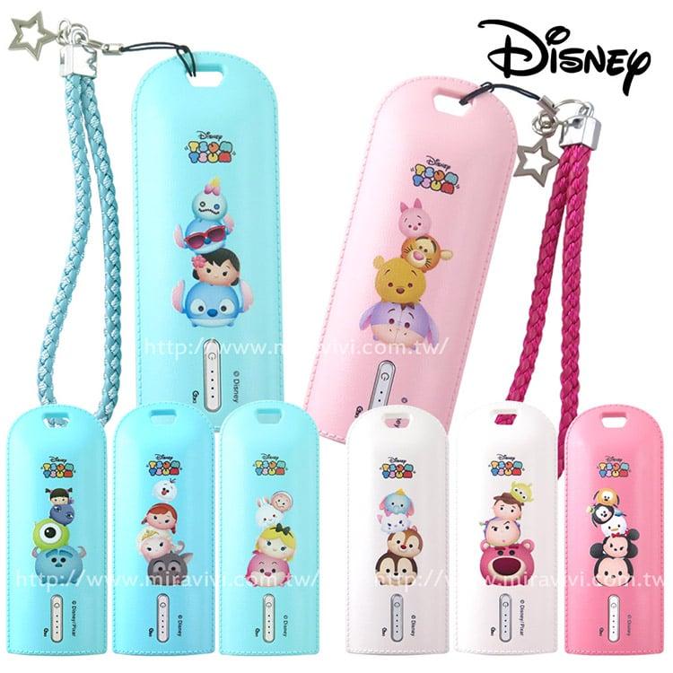 Disney迪士尼史迪奇家族TSUMTSUM 5200mAh隨身型皮革行動電源