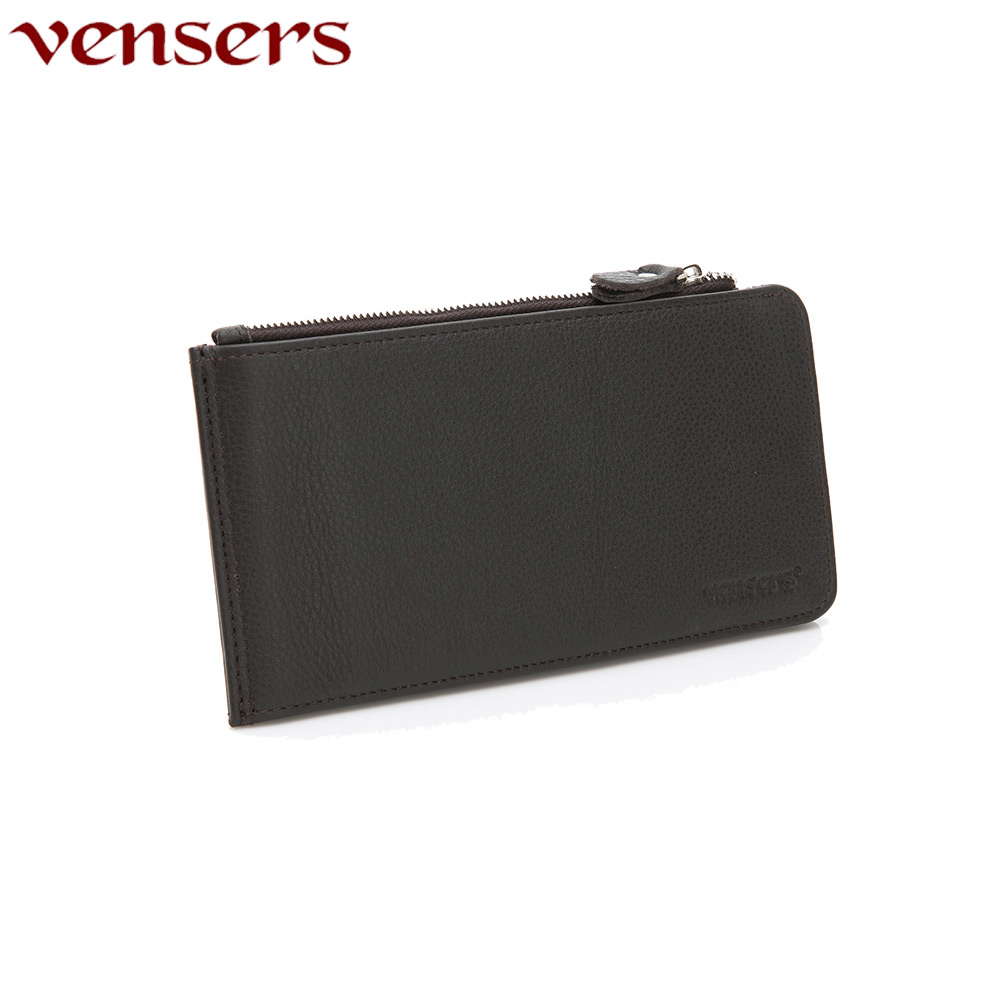 【vensers】小牛皮潮流個性皮夾~(NB12101咖啡長夾)