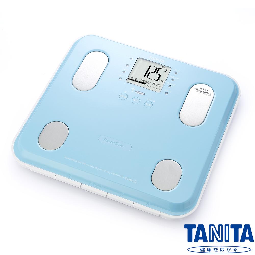 【日本TANITA】九合一體組成計BC565(鏡面天藍)