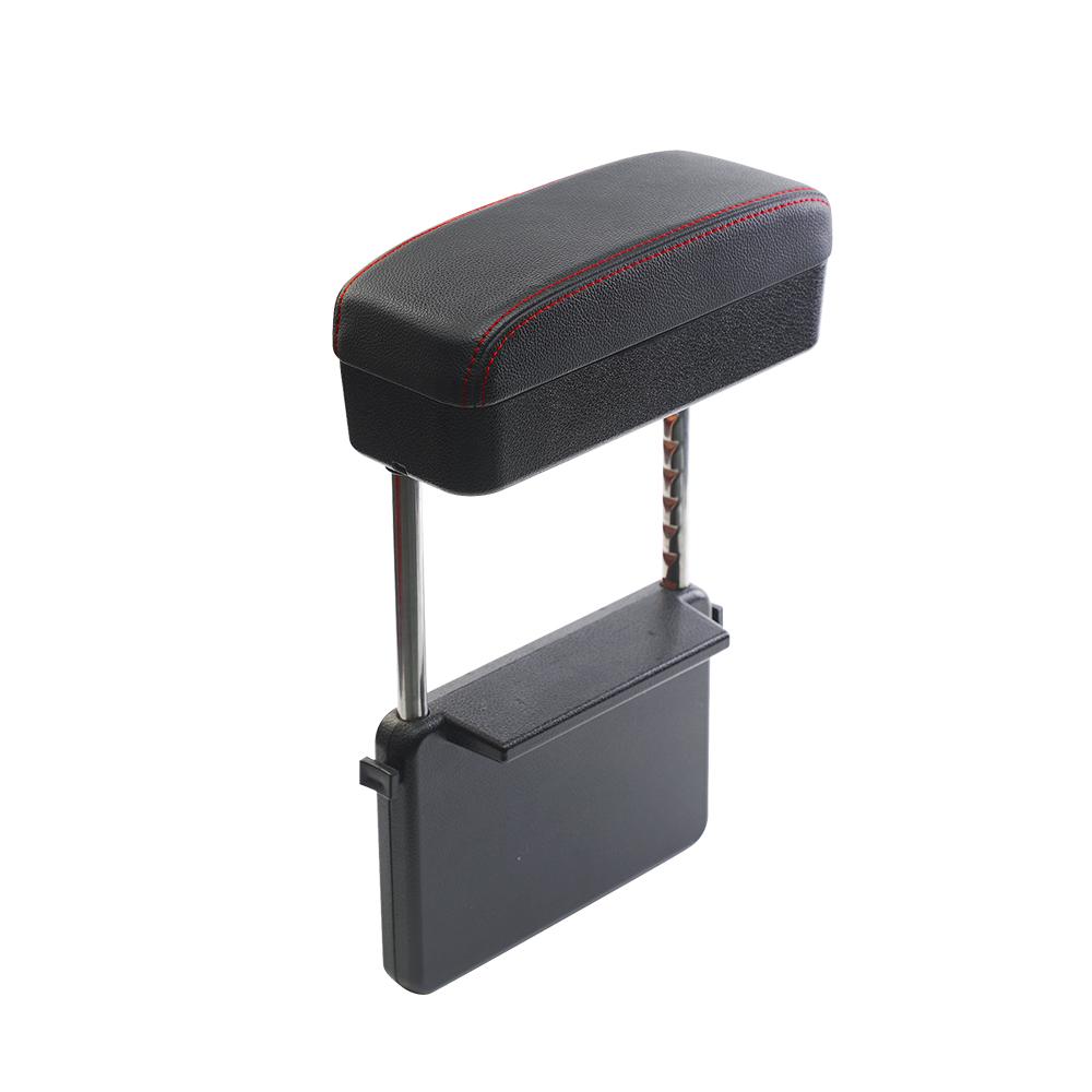 【安伯特】釋壓汽車椅縫收納置物盒(單入)車用扶手 扶手箱 支撐手部 高度可調 緩解手痠 (黑)
