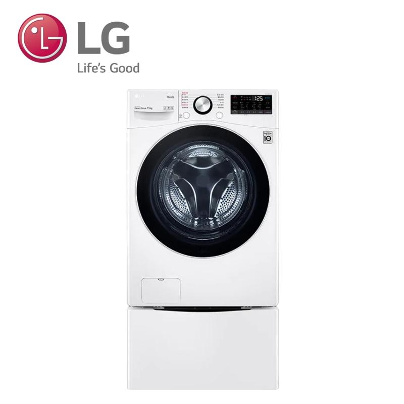 LG樂金 WD-S15TBW+WT-SD200AHW WiFi TWINWash雙能洗(蒸洗脫) 冰磁白 / 15公斤/2公斤(贈和風碗組、直流風扇)