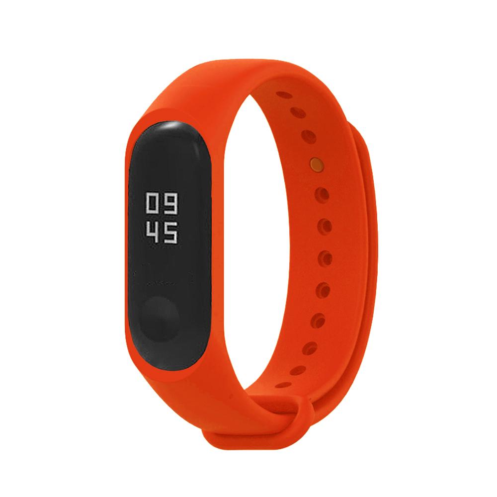 小米手環5代/4代/3代通用 矽膠運動替換錶帶-紅色