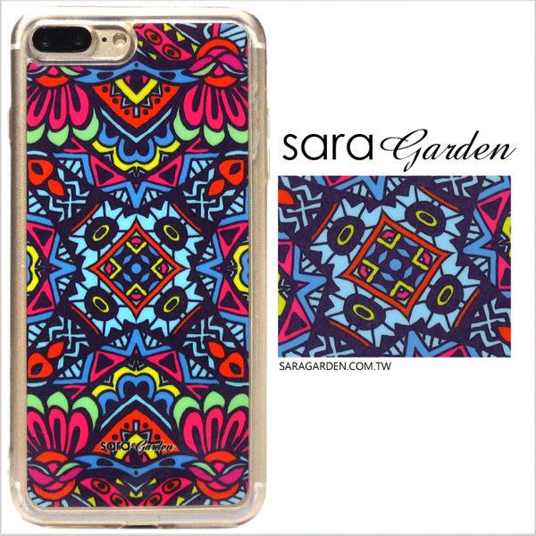 【Sara Garden】客製化 軟殼 蘋果 iphone7plus iphone8plus i7+ i8+ 手機殼 保護套 全包邊 掛繩孔 碎花圖騰