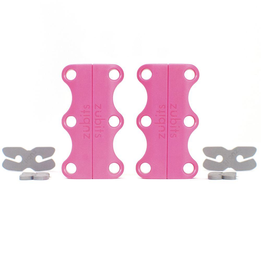 美國 Zubits 強磁鞋帶扣 2 號 - 粉紅