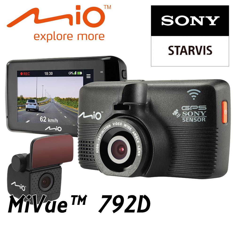 ★含安裝★ Mio 792D 前後型行車紀錄器 前星光級SONY WIFI 測速1080p