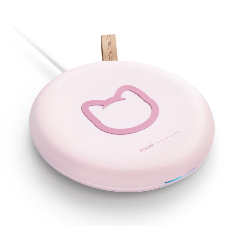 PROBOX 皇室萌貓 15W無線充電板-粉紅