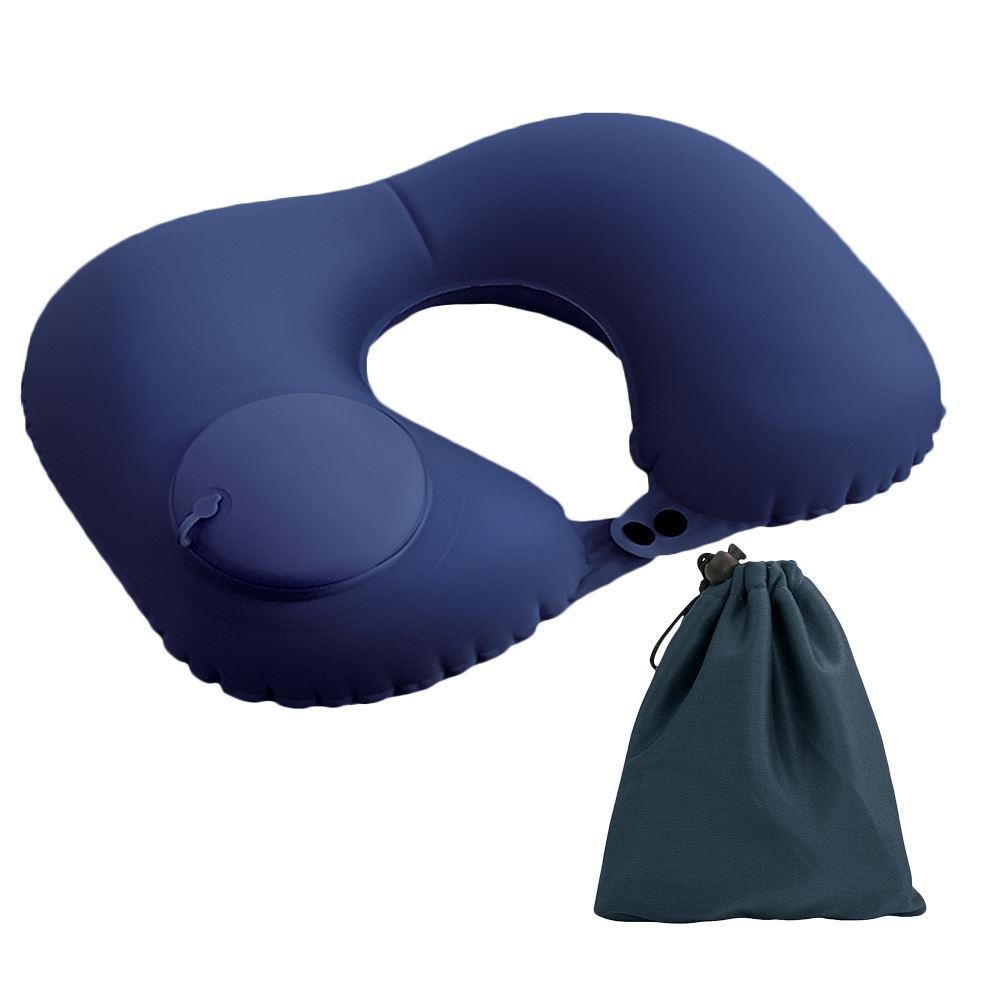 FJ 按壓U型充氣護頸枕NP1 孔雀藍