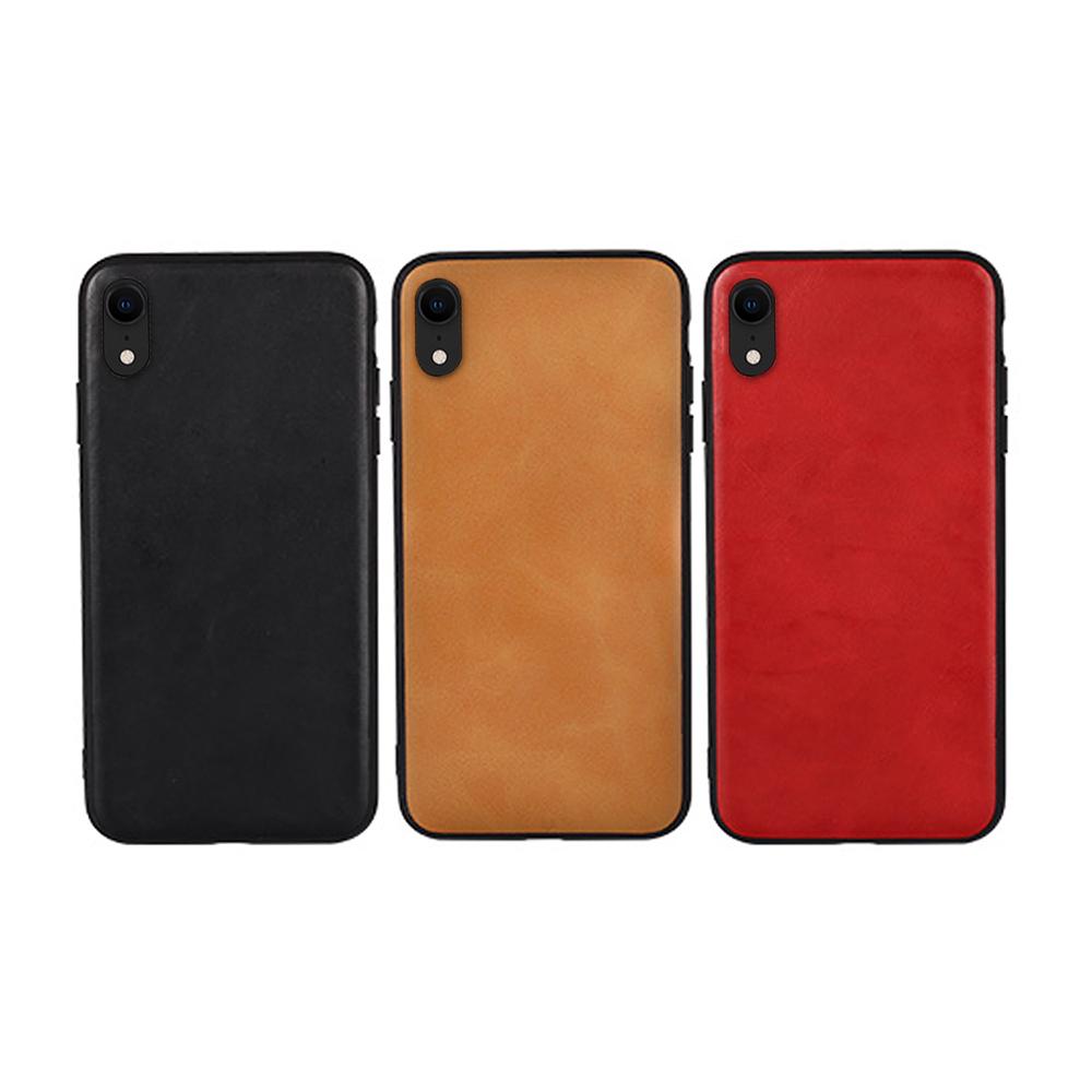 JISONCASE Apple iPhone XR 真皮保護殼(棕色)