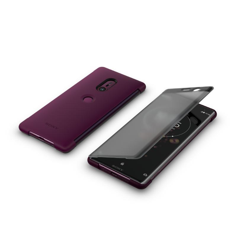 SONY Xperia XZ3 觸控式時尚皮套 紅 (SCTH70)