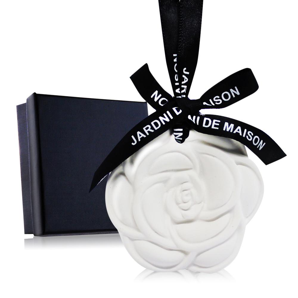 O'Pretty 歐沛媞 室內/車用 香氛擴香石掛飾-白色玫瑰(6.5X6X1.4cm)