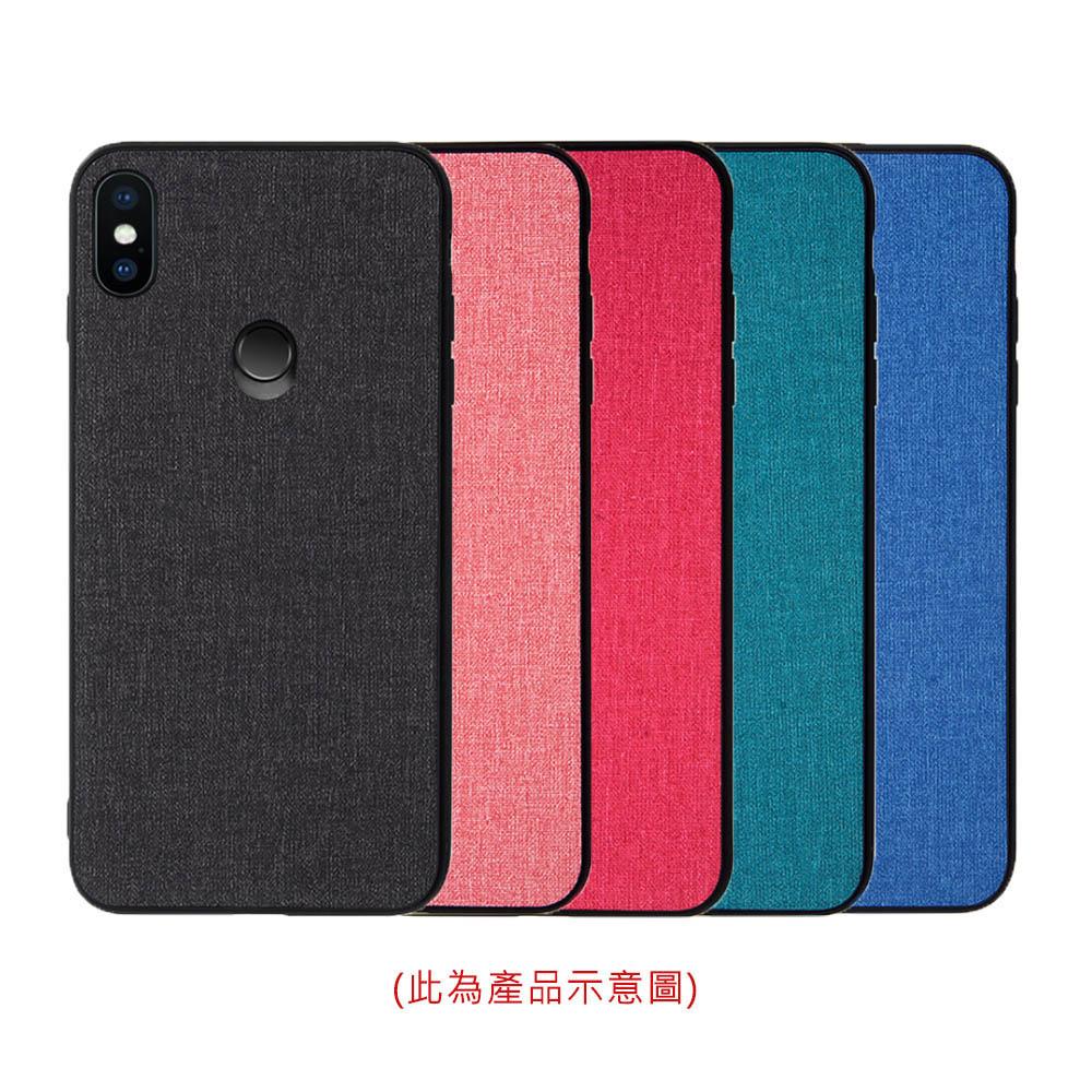 QinD MIUI 紅米 Note 5 布藝保護套(櫻桃紅)