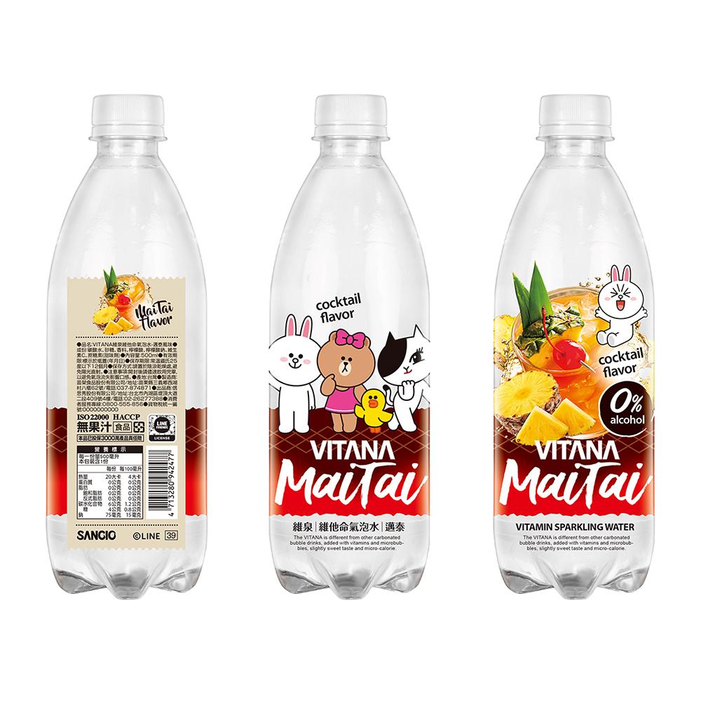 【VITANA】維泉維他命氣泡水-邁泰風味(500mlX24瓶)