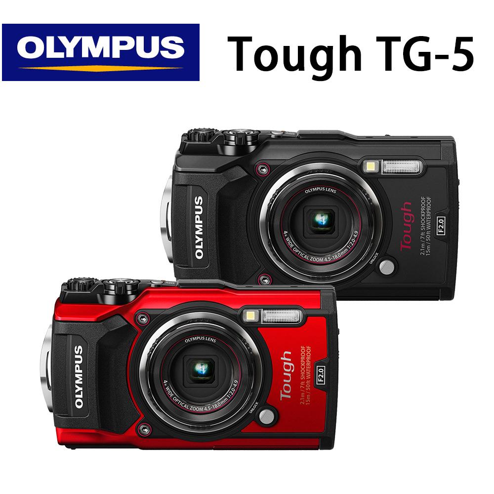 OLYMPUS Stylus Tough TG-5 防水相機- 黑色 公司貨 送64G超值組