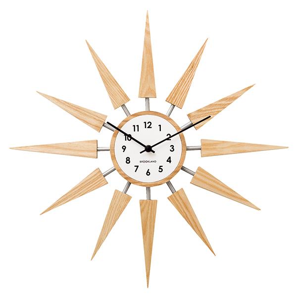 Zeller Life 和風流星造型掛鐘(自然)