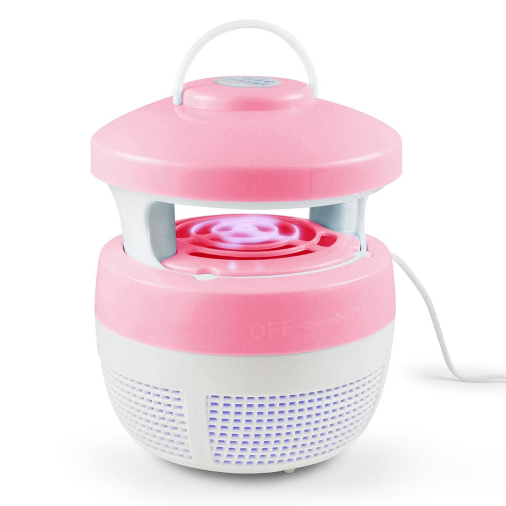 最新可吊掛型 USB光觸媒吸入式捕蚊燈-粉紅