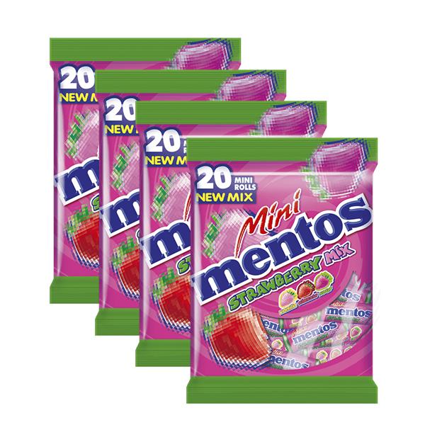 【曼陀珠】迷你曼陀珠綜合草莓口味(20條*4袋) *即期品*