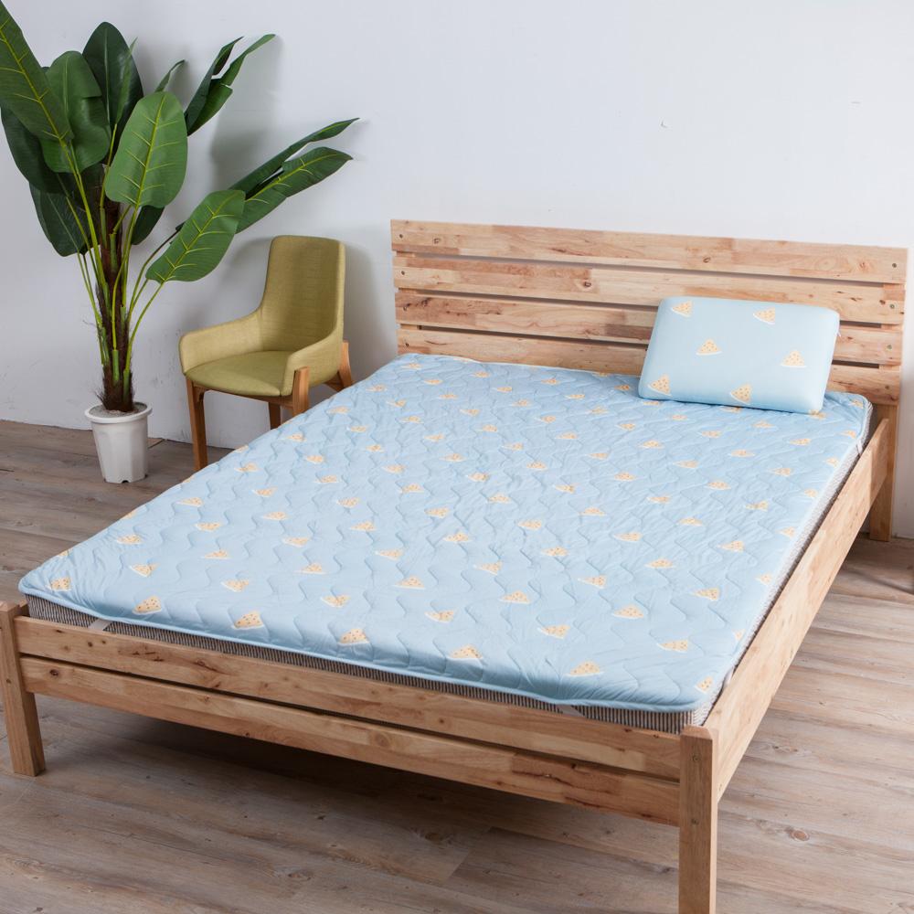 西瓜甜涼感床墊186x150cm-藍-生活工場