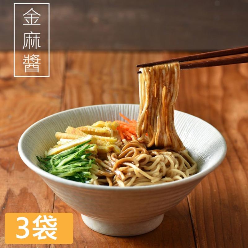 【小夫妻拌麵】金麻醬乾拌麵x3袋(4包/袋)