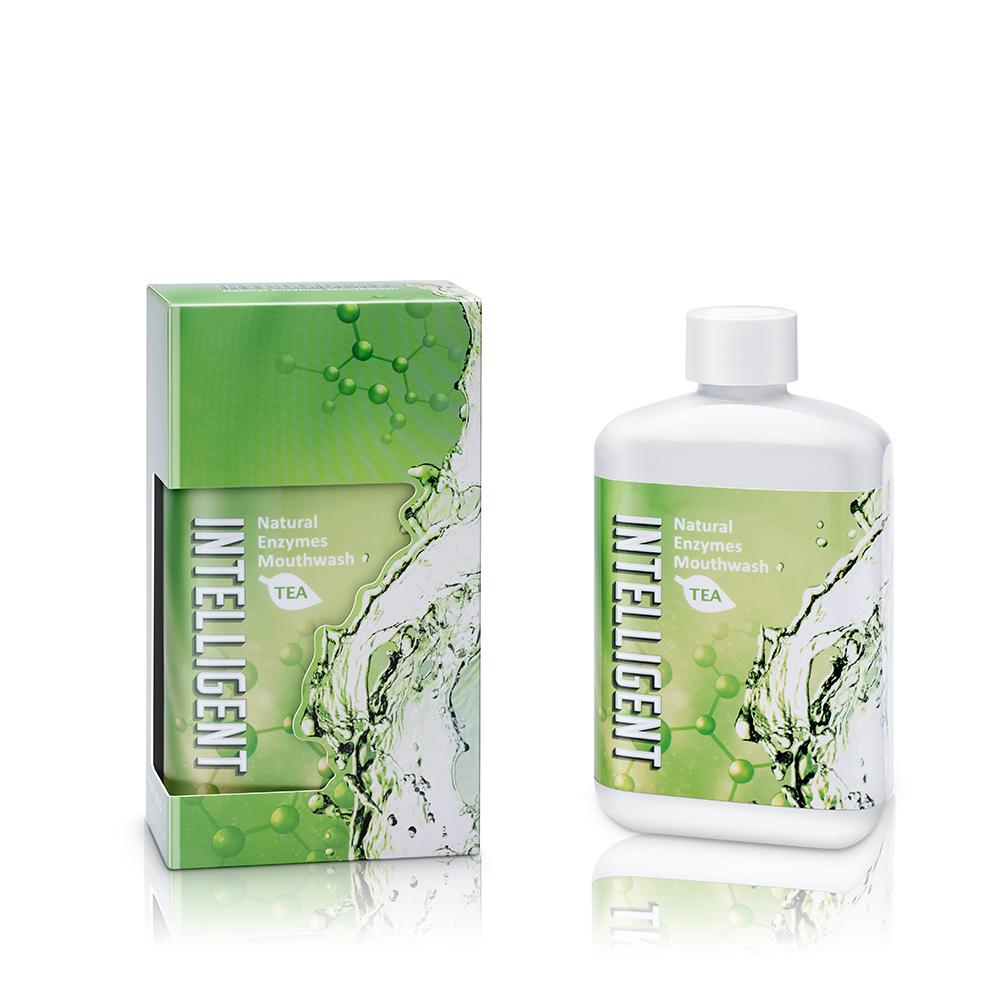 因特力淨酵素漱口水 300 cc (清新茶香)*2瓶 -無酒精 孕婦 兒童 可用 隨身瓶 去除牙菌斑 口臭