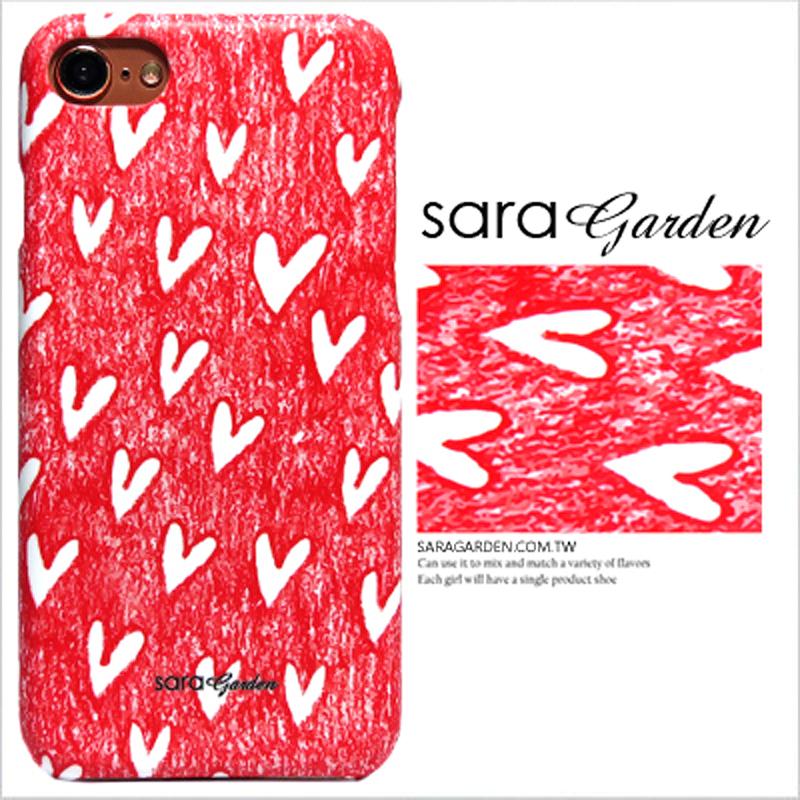 【Sara Garden】客製化 手機殼 小米 紅米5Plus 手繪插畫愛心 保護殼 硬殼