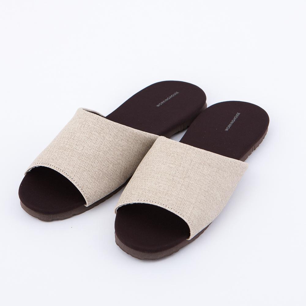 機能抗菌拖鞋-月牙白M-生活工場