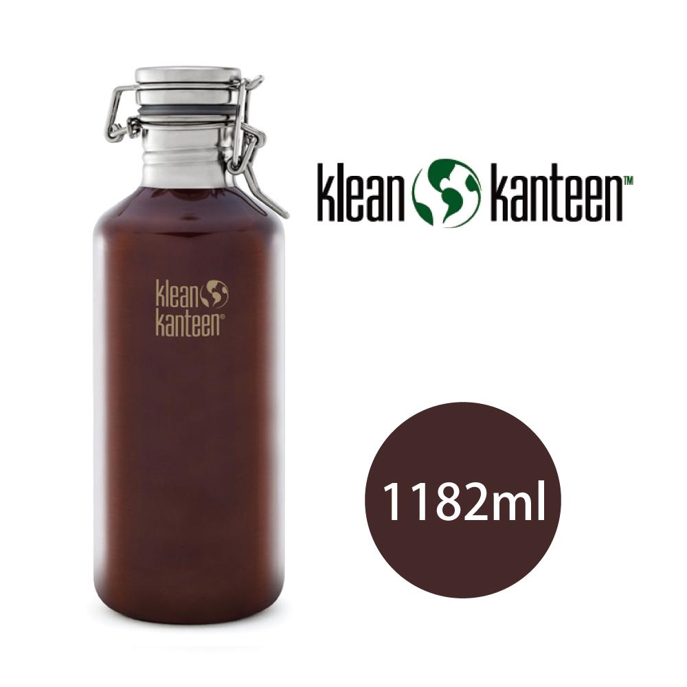 【美國Klean Kanteen】快扣啤酒窄口不鏽鋼瓶1182ml-深琥珀