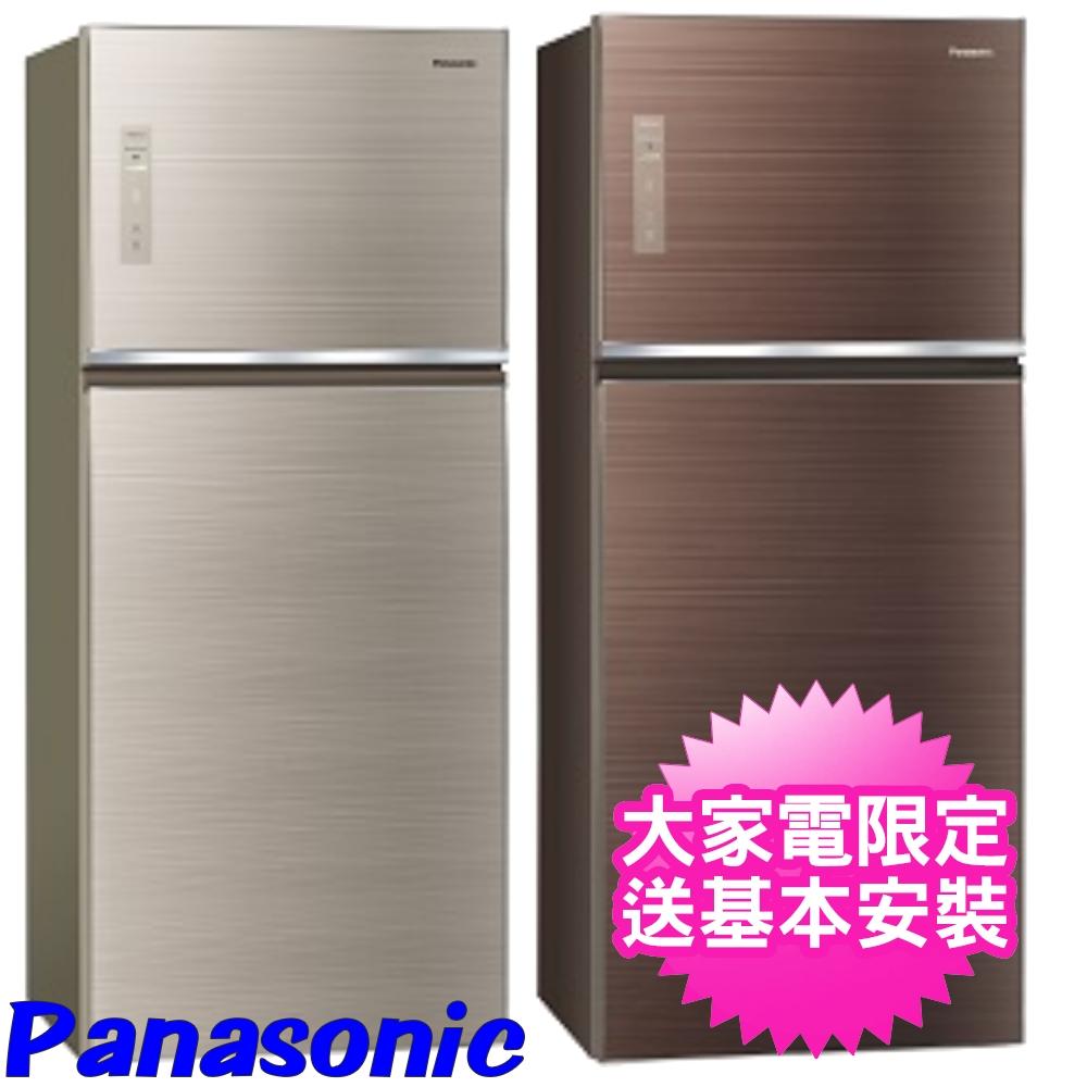 【Panasonic國際牌】422公升玻璃雙門變頻冰箱 翡翠棕 NR-B429TG-T