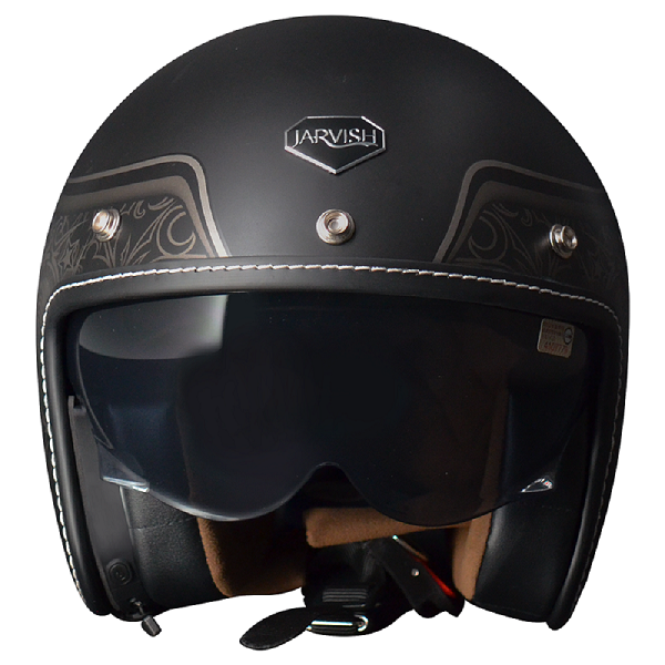 JARVISH Vintage 安全帽 (AN-Kit藍牙耳機) 黑
