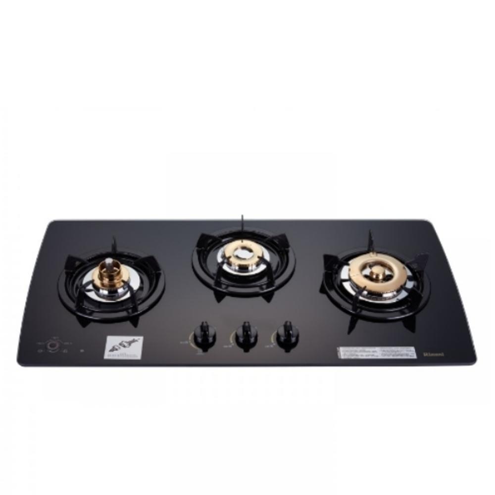 (全省安裝)林內美食家三口檯面爐黑色與白色(與RB-3GMB同款)瓦斯爐RB-3GMB_LPG