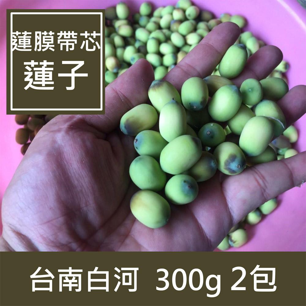 【一籃子】台南白河【蓮膜帶芯蓮子】2包