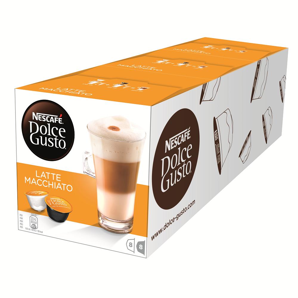 【雀巢 Nestle】雀巢咖啡 DOLCE GUSTO 拿鐵咖啡膠囊16顆入x 3