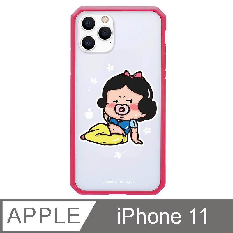 iPhone 11 6.1吋 經典崩壞公主寶寶系列防爆抗摔iPhone手機殼-白雪寶寶(桃紅色)